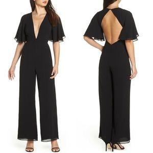 NWT Fame & Partners Colette Plunge Jumpsuit Size 4